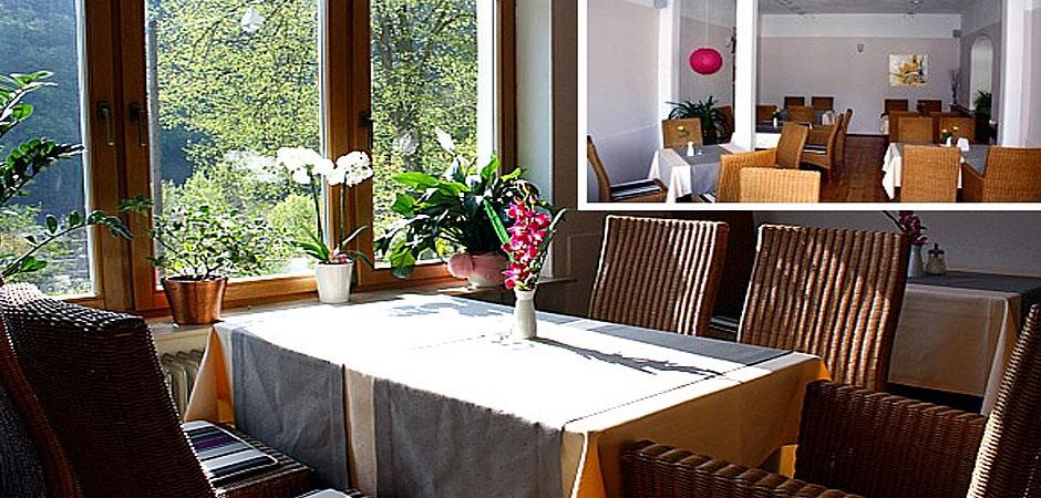 Lahnblick Hotel Restaurant Balduinstein Blick auf die Lahn